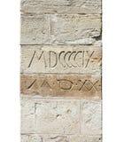 Texturas de la pared de piedra Fotografía de archivo libre de regalías