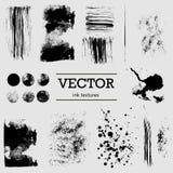 Texturas de la tinta del vector Foto de archivo