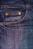Texturas de los jeas de Bleu fotografía de archivo