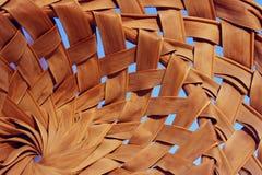 Texturas de madeira abstratas dos fundos Tiro colhido de uma cesta Fim de bambu do chapéu acima imagem de stock