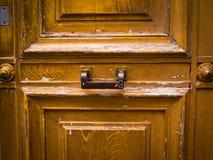 Texturas de madeira do grunge da porta Fotografia de Stock