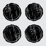 Texturas de madeira do selo do Grunge ajustadas ilustração do vetor