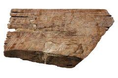 Texturas de madeira velhas das pranchas isoladas no branco imagens de stock royalty free