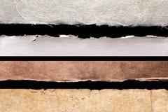 Texturas de papel das bordas rústicas Foto de Stock