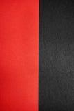 Texturas de papel rojas y negras Fotografía de archivo