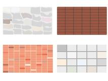 Texturas de paredes stock de ilustración