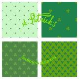 Texturas de Patricks de Saint Imagem de Stock Royalty Free