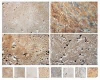 Texturas de piedra naturales Foto de archivo libre de regalías