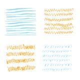 Texturas del bosquejo coloreadas Foto de archivo