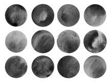 Texturas del círculo del Watercolour Imagenes de archivo