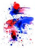 Texturas del color de agua Imagen de archivo libre de regalías