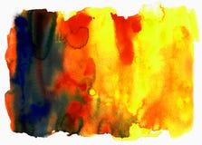 Texturas del color de agua Foto de archivo libre de regalías