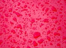 Texturas del descenso rojo Imagen de archivo
