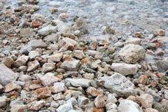 Texturas del fondo de las piedras del mar fotografía de archivo libre de regalías
