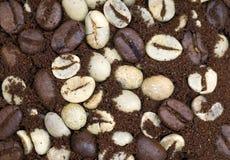 Texturas del grano de café Fotografía de archivo libre de regalías