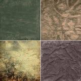 Texturas del grunge de la colección Foto de archivo