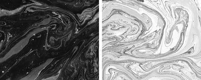 Texturas del mármol del vintage Ilustraciones creativas Pinturas de aceite mezcladas stock de ilustración