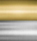 Texturas del metal de la plata y del oro fotografía de archivo libre de regalías