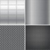 Texturas del metal plateado Imagenes de archivo