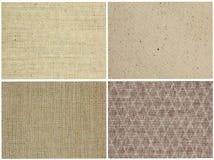 Texturas del paño fijadas Imagen de archivo libre de regalías