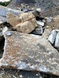 Texturas do cascalho do canteiro de obras do trabalho Foto de Stock Royalty Free