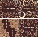 Texturas do chocolate e do creme. Fotos de Stock