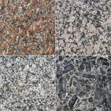 Texturas do granito fotografia de stock