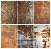 Texturas do metal imagens de stock