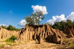 Texturas do solo do ruído Nanoy do Sao, Nan Province, Tailândia foto de stock