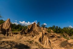 Texturas do solo do ruído Nanoy do Sao, Nan Province, Tailândia foto de stock royalty free