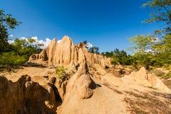 Texturas do solo do ruído Nanoy do Sao, Nan Province, Tailândia fotografia de stock royalty free