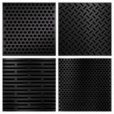 Texturas do vetor do carbono da fibra de Kevlar ajustadas ilustração royalty free