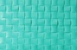 Texturas e fundo plásticos verdes da cestaria Foto de Stock Royalty Free