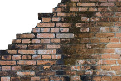 Texturas e fundos alaranjados velhos da parede de tijolo Foto de Stock