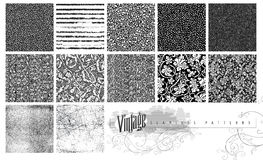Texturas e testes padrões sem emenda Imagem de Stock