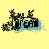 Texturas, ejemplos, té que empaqueta, hojas, pétalos, breakfas Foto de archivo libre de regalías