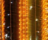 Texturas encendidas de la tela Fotografía de archivo