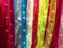Texturas encendidas de la tela Imagen de archivo libre de regalías