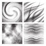 Texturas envejecidas del grano Fondo oxidado granuloso del decaimiento del polvo Sistema negro de las partículas de la arena del  libre illustration