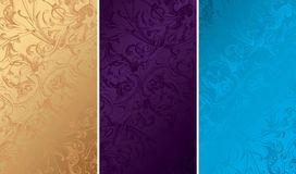 Texturas florais do fundo do vintage Imagens de Stock