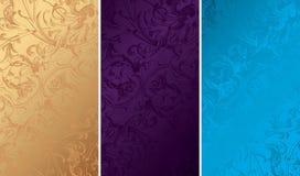 Texturas florales del fondo de la vendimia Imagenes de archivo