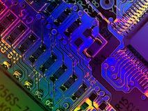Texturas frescas del ordenador de Grunge ilustración del vector