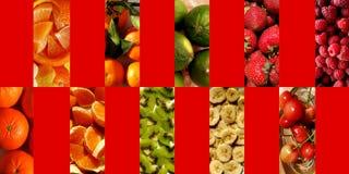 Texturas frutados dentro dos retângulos verticais Fotos de Stock Royalty Free
