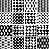 Texturas geométricas. Modelos inconsútiles fijados. stock de ilustración