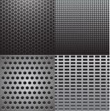 Texturas grises del metal Imagen de archivo libre de regalías
