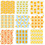 Texturas inconsútiles coloridas del embaldosado Imágenes de archivo libres de regalías