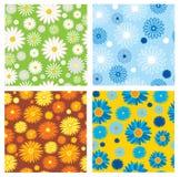 texturas inconsútiles de flores Fotografía de archivo