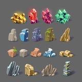 Texturas mágicas del cristal y de la roca ilustración del vector