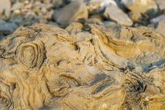 Texturas nas rochas mornas do arenito Fotos de Stock