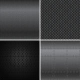 Texturas negras del metal Imagen de archivo libre de regalías